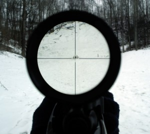The view down a 4 x Scope