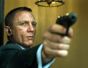 Craig and the famous Walther PPK also pop up here, in Skyfall