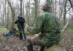 Mat out filming with Tom O'Carroll from the BASC
