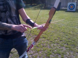 A bow and arrow