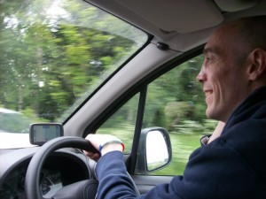 Pellpax delivery driver Chris tours the country each weekend.