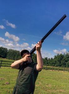 tracking a clay pigeon
