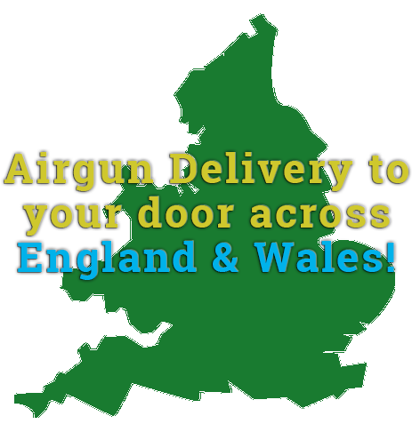 We deliver airguns across England and Wales