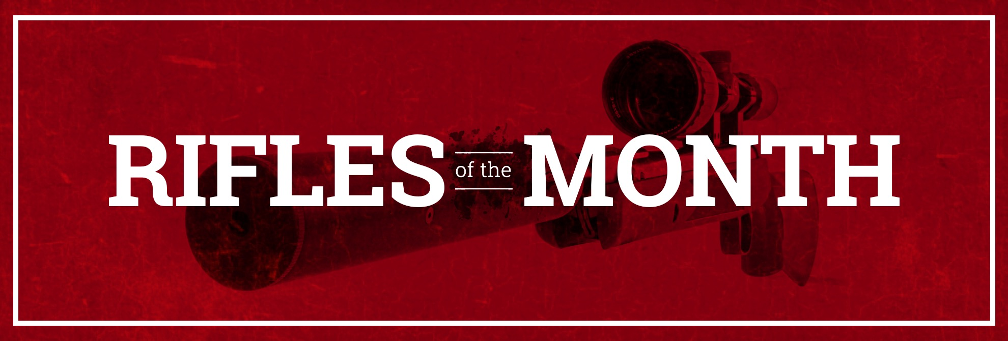 Check out the latest rifles of the month!