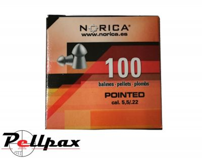 Norica Pointed .22 Pellets  x 100