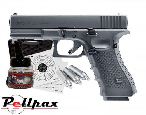 Glock 17 Gen 4 Full Kit - 4.5mm BB Air Pistol