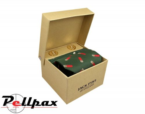 Jack Pyke - Cufflinks, Tie & Hanky Gift Set - Cartridge Green