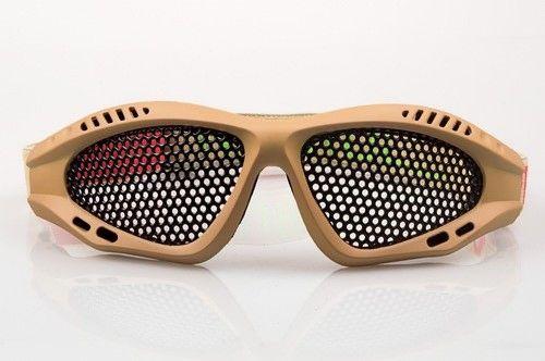 NP Shades Mesh Airsoft Eye Protection Goggles - Tan