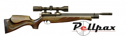 Air Arms S400 Superlite .22 Carbine Air Rifle - Hunter Green Stock