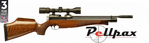 Air Arms S400 .177 Carbine Air Rifle - Walnut Stock