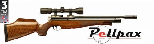 Air Arms S400 .22 Carbine Air Rifle - Walnut Stock
