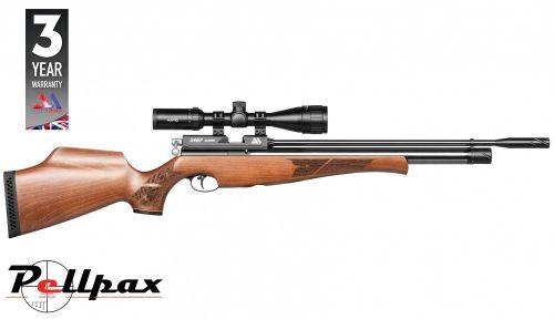 Air Arms S400 .22 Rifle Length Air Rifle - Beech Stock