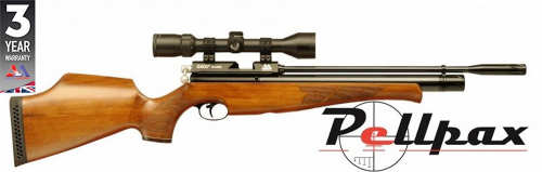 Air Arms S410 .22 Carbine Air Rifle - Beech Stock