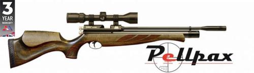 Air Arms S400 Superlite .177 Carbine Air Rifle - Hunter Green Stock
