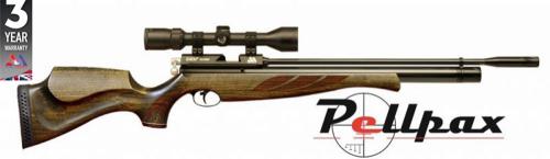 Air Arms S400 Superlite .22 Rifle Length Air Rifle - Hunter Green Stock