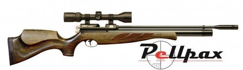 Air Arms S400 Superlite .22 Rifle Length - Hunter Green Stock