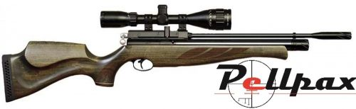 Air Arms S410 Superlite .22 Carbine - Hunter Green Stock