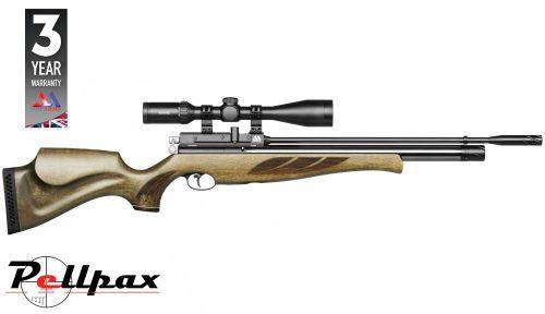 Air Arms S410 Superlite .22 Rifle Length Air Rifle - Hunter Green Stock