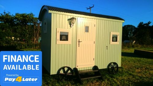 Pale Green Softwood Shepherds Hut