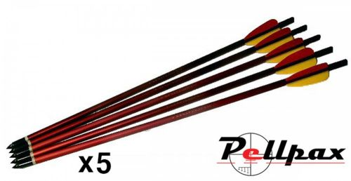Armex 17inch Red Alloy Crossbow Bolts - 5 Packs of 5 - Sale!