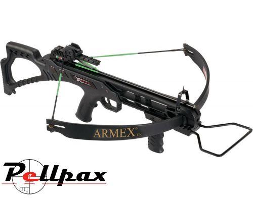 Armex Firecat Recurve Crossbow Black Stock - 175lbs