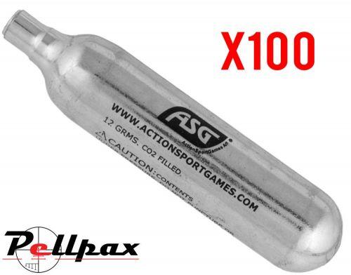 ASG CO2 12g Cartridges  / Capsules x 100