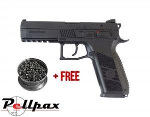 ASG CZ P-09 Duty Black - 4.5mm BB & .177 Pellet Air Pistol - & Free Pellets
