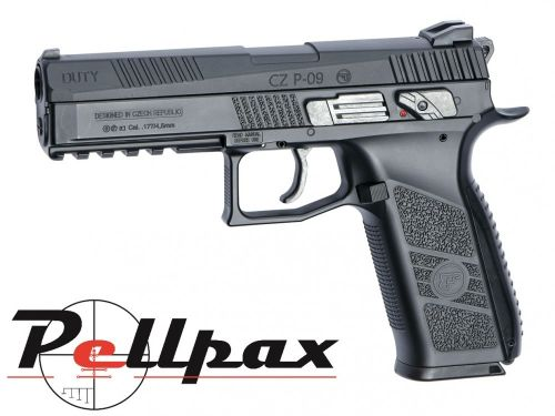ASG CZ P-09 Duty Black - 4.5mm BB & .177 Pellet