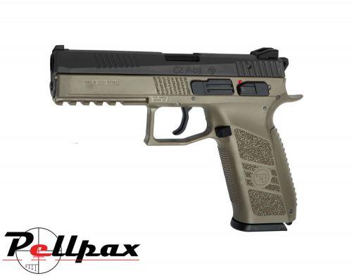 ASG CZ P-09 Duty DT-FDE - 4.5mm BB & .177 Pellet Air Pistol