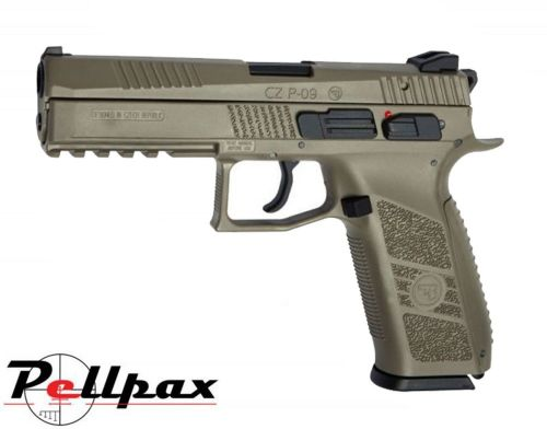 ASG CZ P-09 Duty Full FDE - 4.5mm BB & .177 Pellet Air Pistol