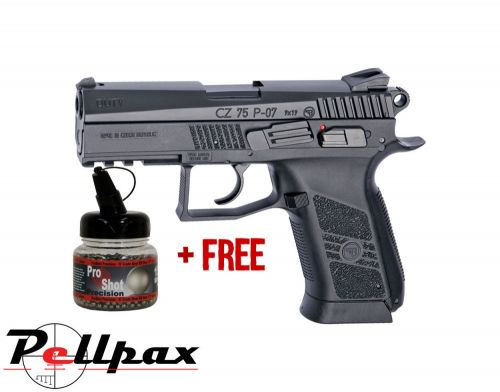 ASG CZ75 P-07 Duty Black - 4.5mm BB Air Pistol - & Free BB's