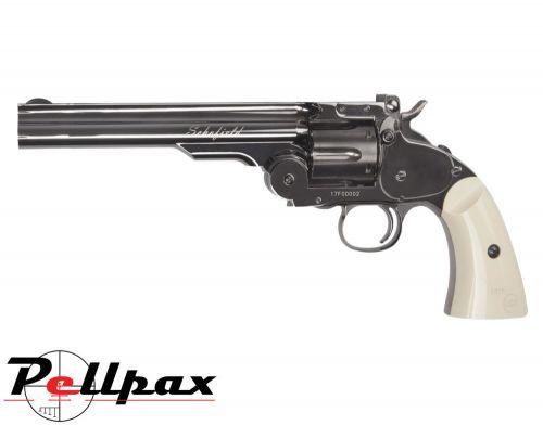 "ASG Schofield 6"" Revolver Steel w/ Ivory Grips - 4.5mm BB Air Pistol"