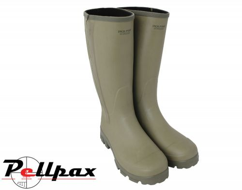Ashcombe Zipped Wellington Boots By Jack Pyke in Light Olive