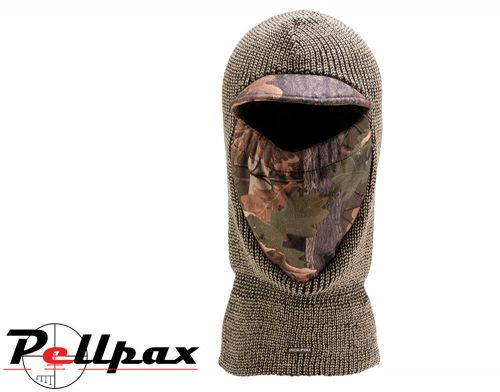 Double Knit Balaclava By Jack Pyke in Brown/English Oak Evolution
