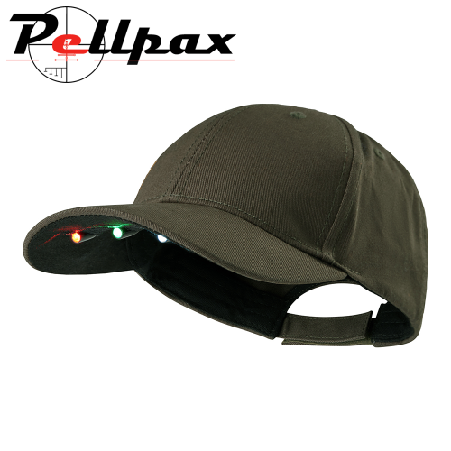 Bark Green Cap with LED Lights by Deerhunter