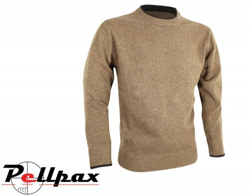 Ashcombe Crewknit Pullover By Jack Pyke in Barley