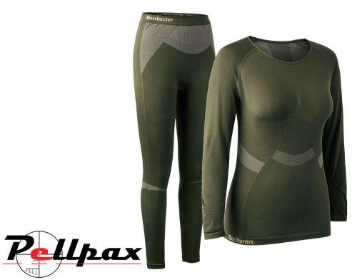 Ladies Performance Underwear Set in Green by Deerhunter