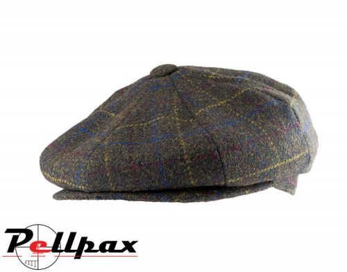 Baker Boy Wool Blend Hat By Jack Pyke in Brown Check
