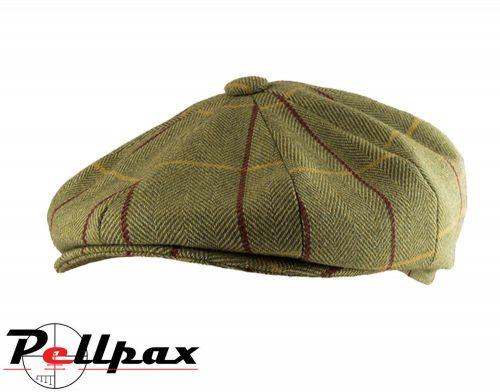 Baker Boy Wool Blend Hat By Jack Pyke in Green Tweed