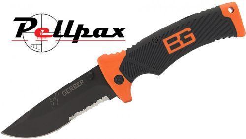 Gerber Bear Grylls Folding Sheath Knife - Serrated Edge