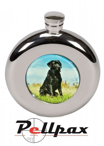 4.5oz Round Labrador Hip Flask by Bisley