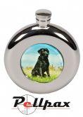 4.5oz Round Labrador Hip Flask by Bisley