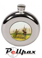 4.5oz Round Shooting Hip Flask by Bisley