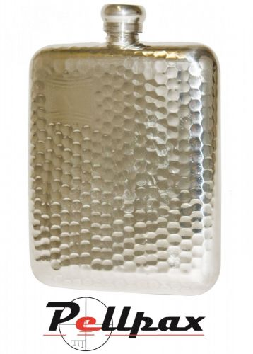 6oz Hammered Pewter Flask by Bisley