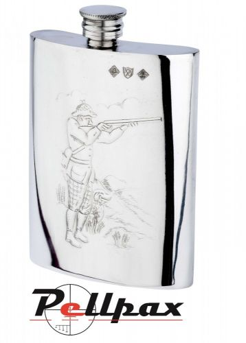 6oz Shooter Pewter Flask by Bisley
