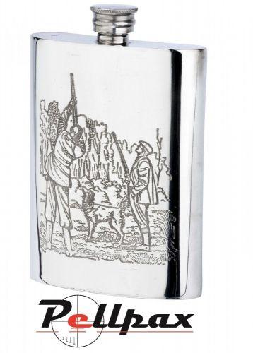 6oz Game Season Pewter Flask by Bisley