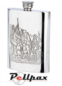 6oz Game Season Pewter Flask by Bisley