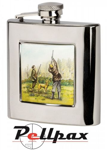 6oz Square Shooting Hip Flask by Bisley