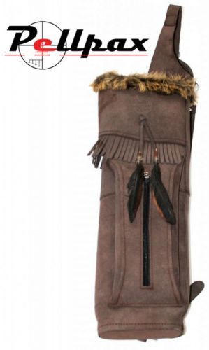 Timber Creek Leather Back Quiver Big Bear Delux Brown