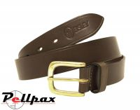 Plain Leather Belt by Bisley